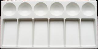 Paleta plastikowa do akwareli - 12 x 23 cm - 6 + 6 komór