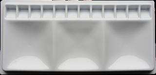 Paleta plastikowa do akwareli - 14,5 x 30 cm - 15 komór