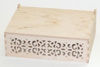 Pudełko ażurowe - 3089 - 23,2 x 17,2 x 8,2 - pełne wieko