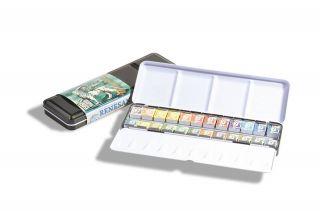 Akwarele Extrafine Renesans  w met. kasetce - 24 kolory