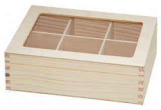 Pudełko na herbatę - 7813 - 6 z plexi