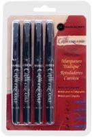 Komplet pisaków do kaligrafii - Czarne 1,4mm 2,5mm 3,6mm 4,8mm - 4szt