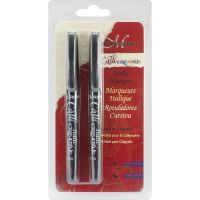 Komplet pisaków do kaligrafii - Czarny 2,5mm i 4,8mm - 2szt