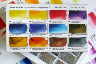 Farby akwarelowe Aquarius zestaw - 12 kolorów Adama Papke