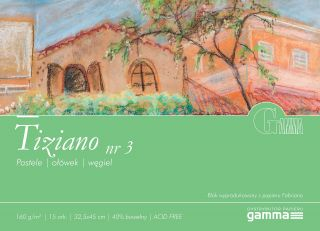 Blok Tiziano 160g 15ark - 03 - 32,5x45cm