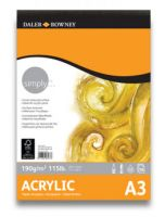 Blok Acrylic Pad Simply 190g - 29,7x42cm (A3)