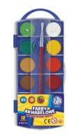 Farby akwarelowe Astra  - fi 23,5mm 12 kolorów
