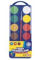 Farby akwarelowe Astra  - fi 30mm - 12kolorów