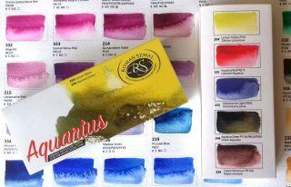 Farby akwarelowe Aquarius zestaw - komplet startowy 5 kolorów