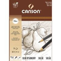 Blok rysunkowy Canson 120g - A4 21x29,7cm, 25ark