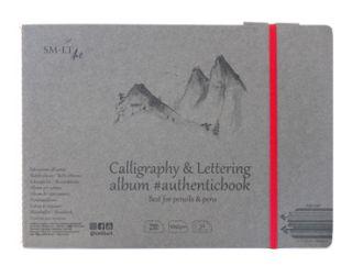 Blok Calligraphy & Lettering SMLT 100g - 17,6x24,5 szyty z gumką - 24 ark