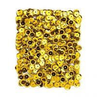 Cekiny okrągłe 9mm 15g - Złoto ciemne