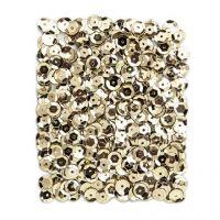 Cekiny okrągłe 9mm 15g - Metalizowane złote jasne