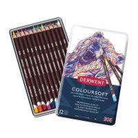 Kredki artystyczne Coloursoft  - 12 kolorów - op. metalowe