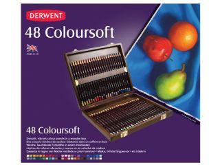 Kredki artystyczne Coloursoft  - 48 kolorów - op. drewniane