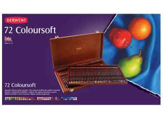 Kredki artystyczne Coloursoft  - 72 kolory - op. drewniane