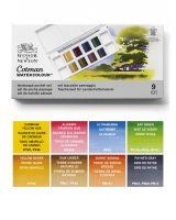 Farby akwarelowe Cotman Pocket Set 8 kol - Landscape