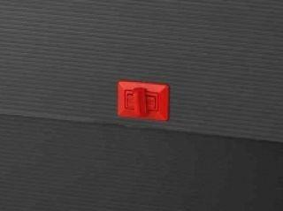 Teczka czarna - B2-G (52x73x8cm) z paskiem, zapięcie czerwone, przekręcane