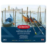Kredki akwarelowe Watercolour - 24 kolory - op. metalowe