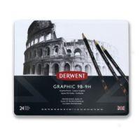 Komplet ołówków Derwent Graphic  - 24szt 9H-9B