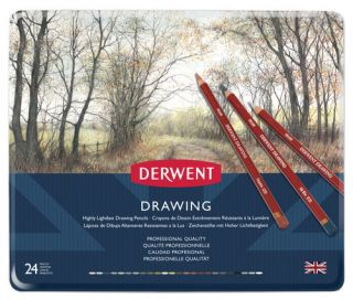 Kredki artystyczne Drawing - 24 kolory - op. metalowe