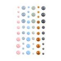 Emaliowane ozdoby samoprzylepne - kropki - So In Love - 54szt