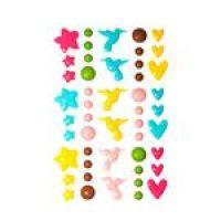 Emaliowane ozdoby samoprzylepne - kształty - Tropical Dreams - 48szt