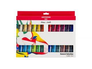 Zestaw farb akrylowych Amsterdam  - 24 kol x 20 ml