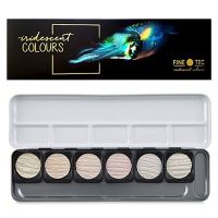Metaliczne farby akwarelowe Finetec - 6 iridescent colours opalizujące