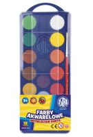 Farby akwarelowe Astra  - fi 23,5mm 18 kolorów