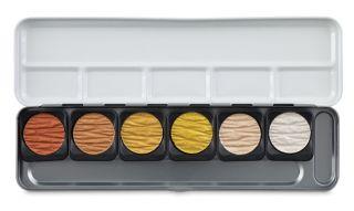 Metaliczne farby akwarelowe Finetec - 6 pearl colours
