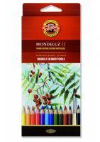 Kredki Mondeluz opakowanie tekturowe - 12 kolorów