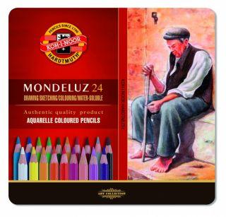Kredki Mondeluz opakowanie metalowe - 24 kolory