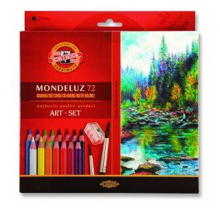 Kredki Mondeluz opakowanie tekturowe - 72 kolory