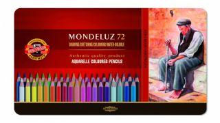 Kredki Mondeluz opakowanie metalowe - 72 kolory