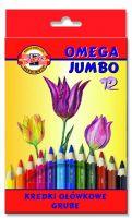 Kredki Omega Jumbo - 12 kolorów