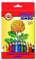 Kredki Omega Jumbo - 24 kolory