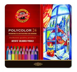 Kredki Polycolor opakowanie metalowe - 3724 - 24 kolory