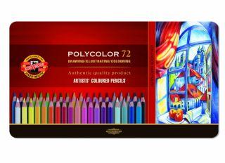 Kredki Polycolor opakowanie metalowe - 3727 - 72 kolory
