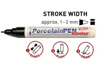 Pisak PorcelainPEN brilliant - 16412 Kontur black