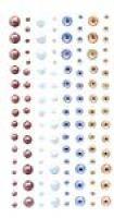 Kryształki i perły samoprzylepne 120szt - GRKP-001 Azure & Spice