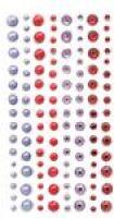 Kryształki i perły samoprzylepne 120szt - GRKP-004 Cranberry & Lavender