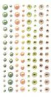 Kryształki i perły samoprzylepne 120szt - GRKP-007 Lemon Drop