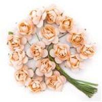 Kwiaty papierowe 2cm 16szt - Light coral