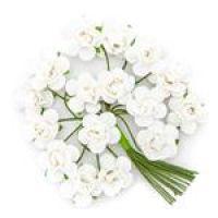 Kwiaty papierowe 2cm 16szt - Pure white