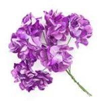 Kwiaty papierowe 3cm 6szt  - Lavender