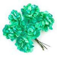 Kwiaty papierowe 3cm 6szt  - Mint