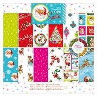 Papier Love Santa 36 arkusze - 15,2 x 15,2 cm