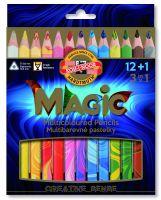 Kredki Magic Trio - 3408/13 12+1 - op. kartonowe