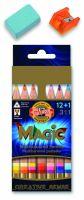 Kredki Magic Trio - 3404 12+1 natur. - op. kartonowe